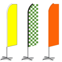Solid & Chex Feather Flags