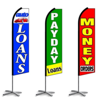 Money & Finance Feather Flags