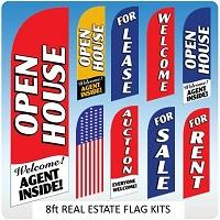 Real Estate Flags - 8ft kits