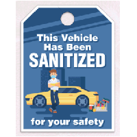 Sanitized Vehicle Stickers and Tags