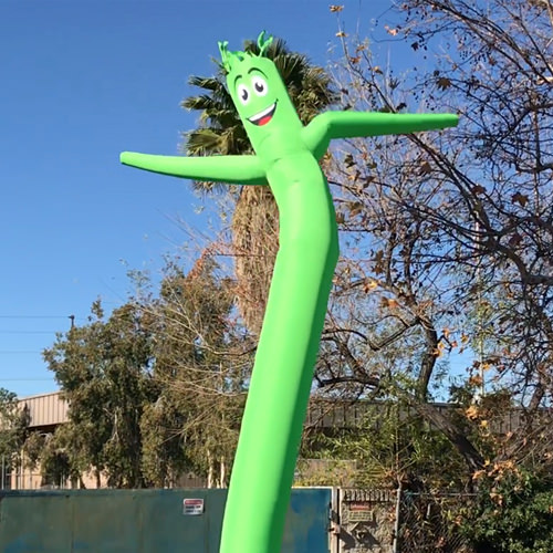 Lime Green Air Inflatable Tube Dancer Sky Man Puppet